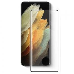 Стъклен Протектор 5D Full Glue за Samsung Galaxy S21 Ultra, Черен