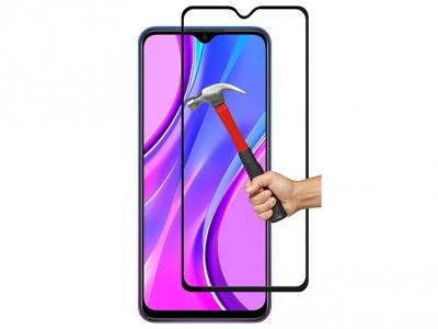 Стъклен Протектор 5D Full Glue за Xiaomi Redmi 9A / 9C, Черен