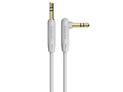 Аудио Кабел Borofone AUX BL4 Jack 3.5mm - 3.5mm 2M, Сив