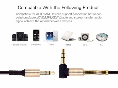 HOCO Аудио кабел AUX UPA02 3.5mm с микрофон 2M , Черен