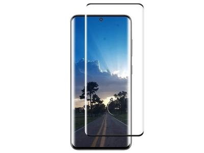 Стъклен Протектор Full Glue 5D (fingerprint hole) Samsung Galaxy S20 Plus, Черен