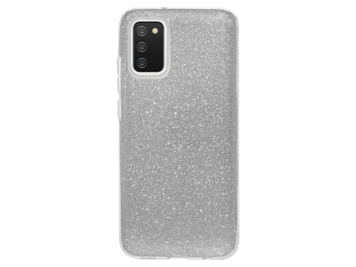 Силиконов калъф SHINING за Samsung Galaxy A02s, Сребрист