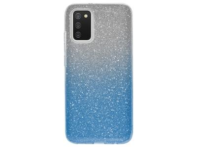 Силиконов калъф SHINING за Samsung Galaxy A02s, Сребрист/ Син
