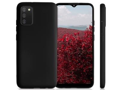 Силиконов калъф Matte за Samsung Galaxy A02s, Черен