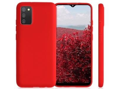 Силиконов калъф Matte за Samsung Galaxy A02s, Червен
