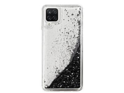 Силиконов калъф LIQUID PEARL за Samsung Galaxy A12, Черен