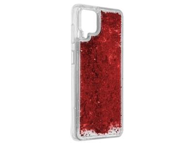 Силиконов калъф LIQUID PEARL за Samsung Galaxy A12, Червен