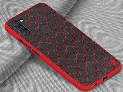 Удароустойчив калъф PINWUYO за Samsung Galaxy A11, Червен