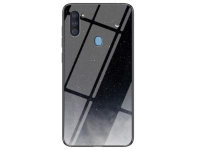 Калъф Гръб Glass за Samsung Galaxy A11, Черно небе