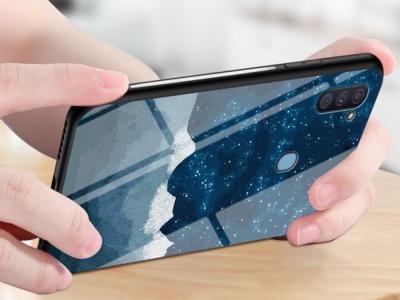 Калъф Гръб Glass за Samsung Galaxy A11, Синьо небе
