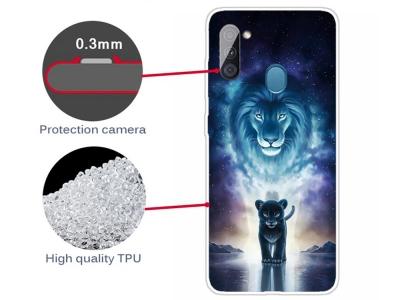 Силиконов калъф за Samsung Galaxy A11, Лъв