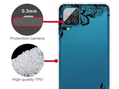 Силиконов калъф за Samsung Galaxy A12, Дантела
