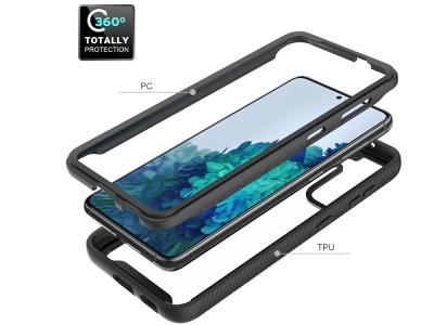 Удароустойчив калъф Hybrid за Samsung Galaxy S21, Черен