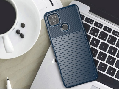 Силиконов Калъф Twill Texture за Motorola Moto G9 Power, Син