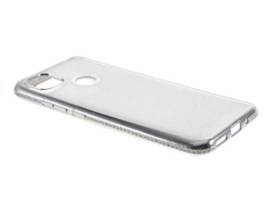 Силиконов калъф Metal Kickstand за Xiaomi Redmi 9C, Сребрист