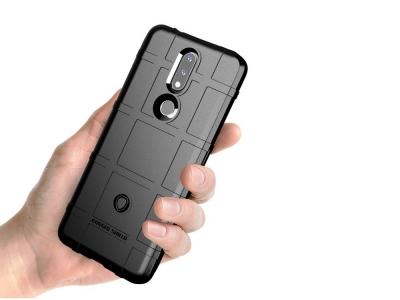 Удароустойчив Калъф Grid за Nokia 2.4, Черен