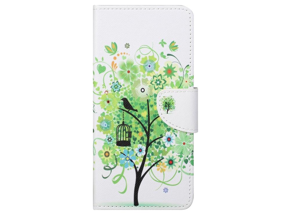 Калъф Тефтер за Nokia 5.4, Зелено дърво