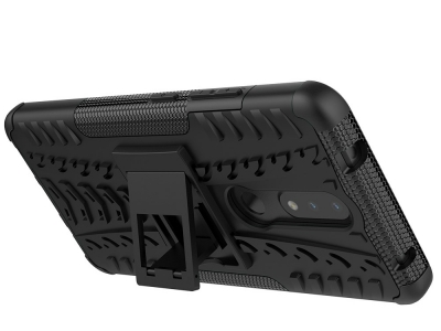 Удароустойчив калъф с поставка Hybrid за Nokia 2.4, Черен
