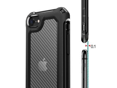 Удароустойчив калъф Carbon Hybrid за  iPhone 7/8/SE, Черен