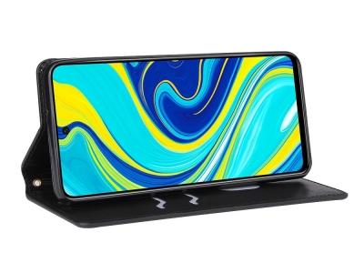 Калъф Тефтер Crazy Horse за Xiaomi Redmi Note 9S/Note 9 Pro/Note 9 Pro Max, Черен