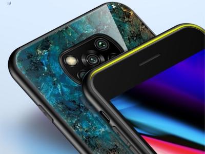 Калъф Гръб Glass за Xiaomi Poco X3/Poco X3 NFC, Мраморен изумруд
