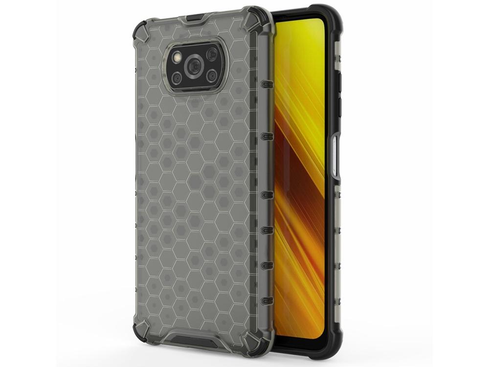 Пластмасов Гръб Shock Absorber за Xiaomi Poco X3/Poco X3 NFC, Черен