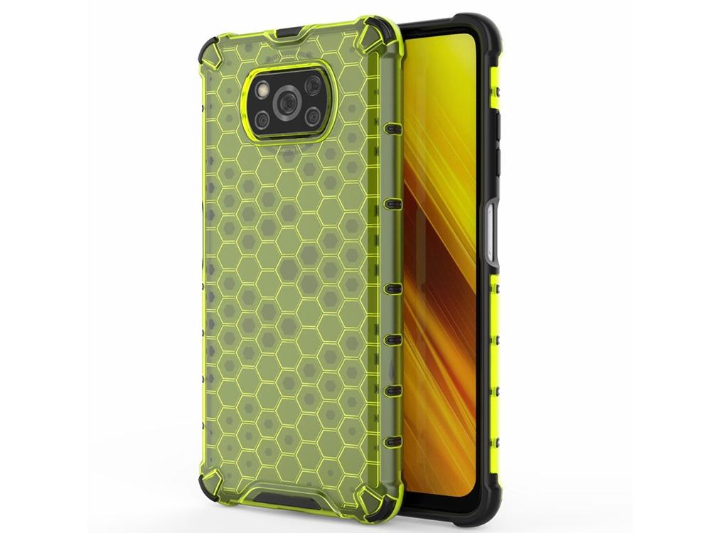 Пластмасов Гръб Shock Absorber за Xiaomi Poco X3/Poco X3 NFC, Зелен