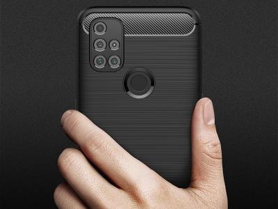 Силиконов Калъф Carbon Fibre за OnePlus Nord N10 5G, Черен