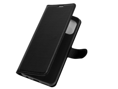 Калъф Тефтер Litchi - OnePlus Nord N100 - Black