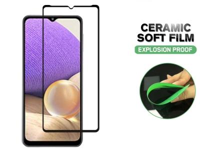 Удароустойчив протектор Hard Ceramic за Samsung Galaxy A32 5G, Черен