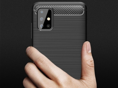Силиконов Калъф Carbon Fibre за Samsung Galaxy A52 (5G) / A52 LTE (4G), Черен