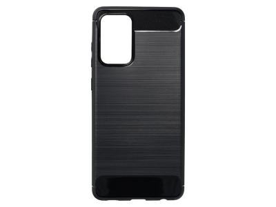 Силиконов Калъф Carbon Fibre за Samsung Galaxy A72 LTE (4G), Черен
