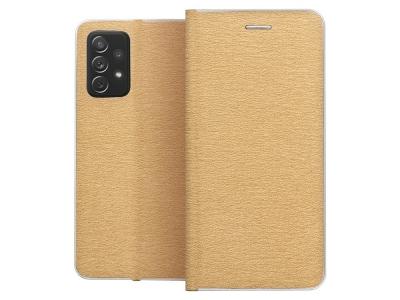 Калъф Тефтер LUNA за Samsung Galaxy A72 LTE (4G), Златист