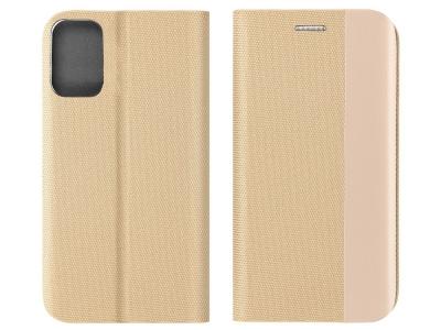 Калъф Тефтер SENSITIVE за Samsung Galaxy A32 LTE (4G), Златист