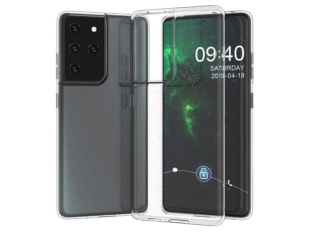 Силиконов калъф за Samsung Galaxy S21 Ultra, Прозрачен