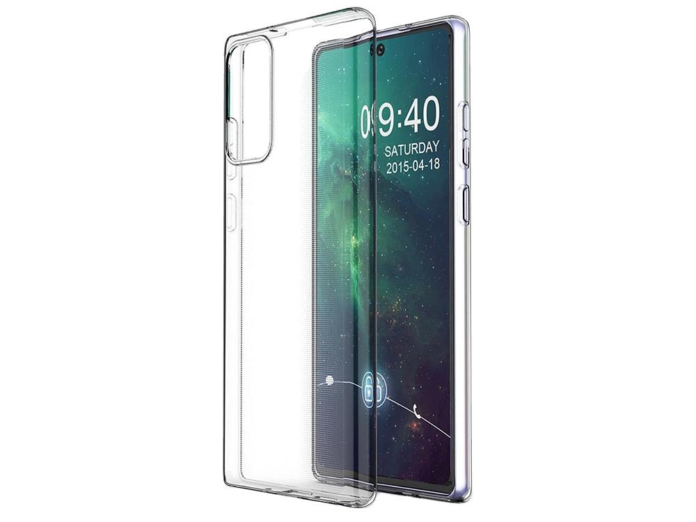 Силиконов калъф за Samsung Galaxy Note 20, Прозрачен