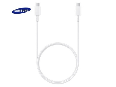 Оригинален Кабел Samsung EP-DA705BWE, Type C/Type-C, Бял (Bulk)