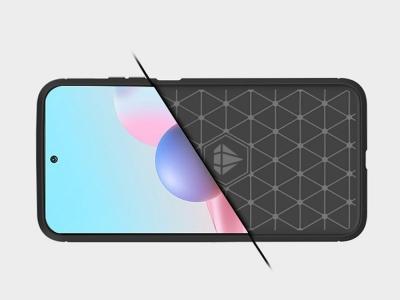 Силиконов гръб Carbon за Xiaomi Redmi Note 10 / 10s, Черен