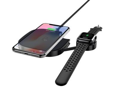 Безжично зарядно устройство Hoco S5 Rich Power 2in1 for smartphone and iWatch Black