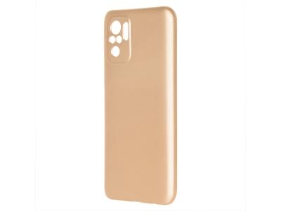 Силиконов калъф Level за Xiaomi Redmi Note 10, Златист