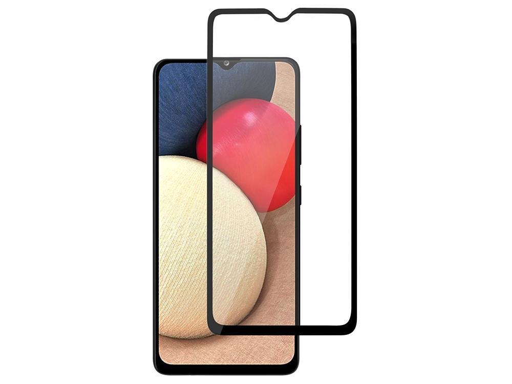 Стъклен Протектор 5D Full Glue за Samsung Galaxy A02S, Черен