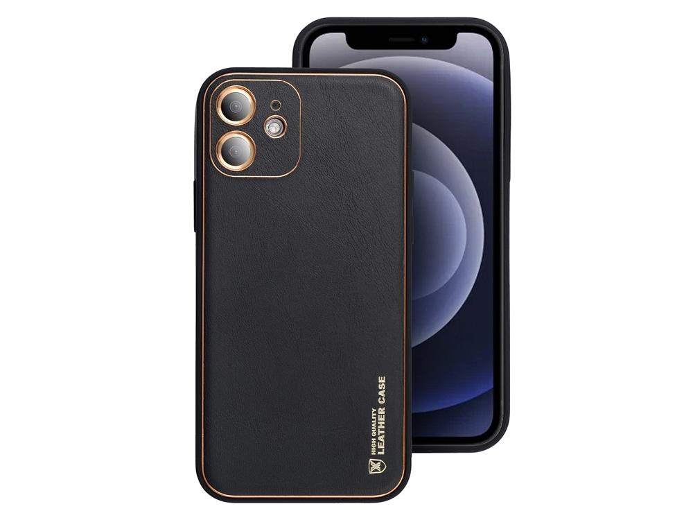 Удароустойчив калъф LEATHER Iphone 11, Черен