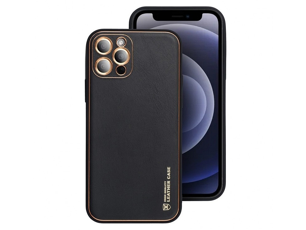 Удароустойчив калъф LEATHER Iphone 11 PRO, Черен
