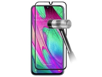 Стъклен Протектор 9D Full за Samsung Galaxy A40, Черен