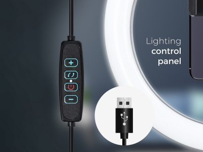 LED Лампа Ринг със Статив и поставка за телефон 13 инча