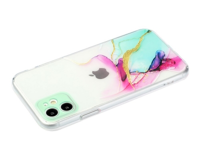 Силиконов калъф Marble за iPhone 11, Мрамор -дъга