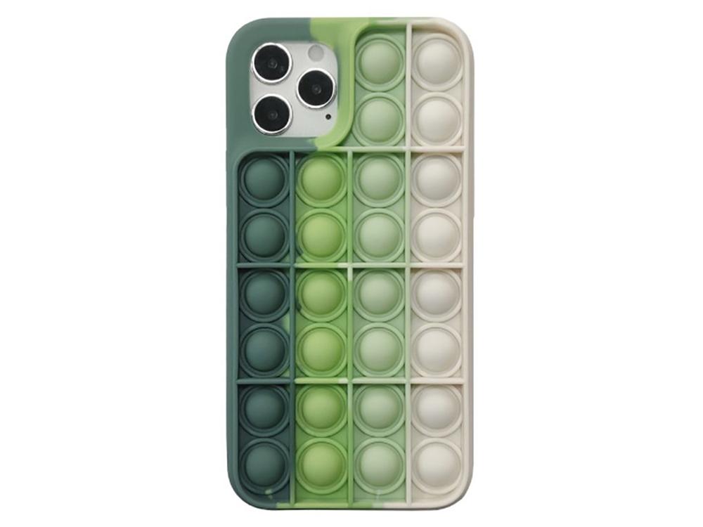 Силиконов калъф Push Pop Bubble за iPhone 11, Светло зелен
