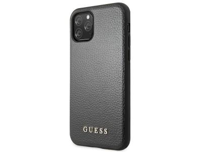 Оригинален Гръб Guess Leather за iPhone 11 Pro, Черен