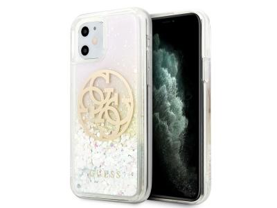Оригинален Гръб Guess Gradient Liquid Glitter Circle Logo за iPhone 11