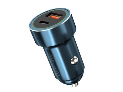 Зарядно 12V / 24V XO Design 2USB PD USB TYPE C / USB -A, Син